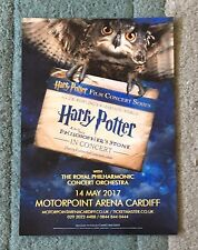 Harry Potter Film Concert Series Live Motorpoint Arena Cardiff Flyer 14 May 2017