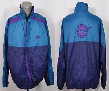 VTG Nike Flight Jacket Windbreaker 80's 90' Basketball Large Colorblock Swoosh