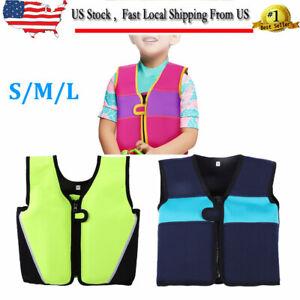 Children Swimming Float Suit Swim Jacket Vest Life Jacket For Kid 1-6 Years USA