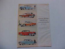 1955 GM Chevrolet, Pontiac, Olds, Buick, Cadillac-LARGE full-color vintage 55 ad