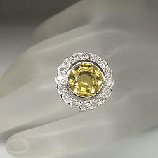 Aparter Ring mit 4,52ct Citrin und ca. 1,60ct Brillant TW-vvsi 750/18K Weißgold