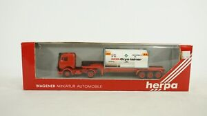 Herpa 1:87 HO Scale Mercedes Tractor & Hoyer Low 3 Axle Trailer 811363 NEW B39
