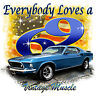 Ford '69 Mustang Vintage Muscle Car T-shirt Small to XXXL