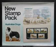 Australia Post display sheet - Australian Dogs Stamp Pack issued in 1980.