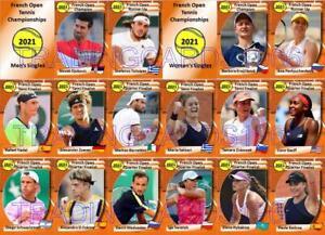French Open 2021 Tennis Trading Cards Djokovic Tsitsipas Krejcikova Pavlyunchen