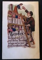 Suffrage~Woman ~No Man should Be Without~ H.H. Tammen Suffragette Postcard-b385