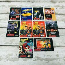 Retro Super Nintendo SNES Game Manual Booklets x 10 Bundle Original