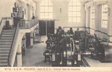 CPA Espagne molinos salto E.E.C. central sala de máquinas