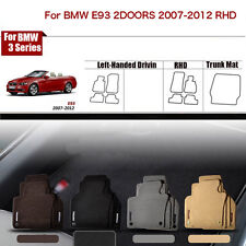 "Full Set 1/2""Thick Solid Nylon Interior Floor Carpet Mats For RHD BMW E93 2Doors"