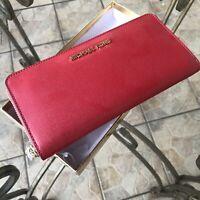 MIchael Kors Women Leather Clutch Long Wallet Coin Card Holder Purse Handbag Bag
