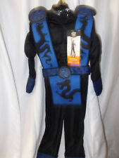 HYDE & EEK MUSCLE BLUE NINJA COSTUME KIDS MUSCLE SHIRT JUMPSUIT VEST MASK SM NIP