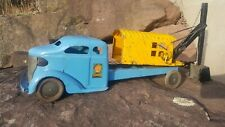 Vintage Tuner Toys Steam Shovel Truck Pressed Steel Toy
