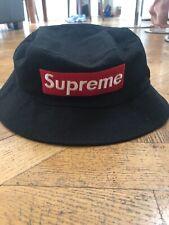Fake Supreme Black Bucket Hat
