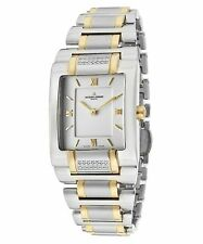 NEW Jacques Lemans G-117J Women's Gloria Classic Watch Gold Silver Analog SS