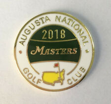 U.S. MASTERS 2018 WON BY PATRICK REED  GOLF BALL MARKER & Display CASE