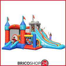 Gonfiabile per Bambini Castello Medioevo 13in1 Scivolo Salterello Palline Giochi