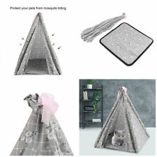 Portable Folding Dog Cats Pet House Bed Tent Indoor Outdoor Kennel Teepee