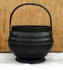 Antique metal Cauldron Hanging Cook Pot planter witch pagan wicca druid