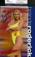 BRANDE RODERICK JSA COA Hand Signed 4x6 Photo Autograph BAYWATCH