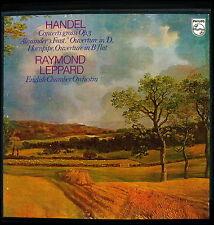 HANDEL CONCERTI GROSSI OPUS 3 LEPPARD 2LP PHILIPS 6700 050 BONUS LP OVERTURES
