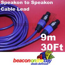 9 Meters 30 Feet 2.5mm 13 AWG PA Speakon Speaker Lead Low Noise Cable S109