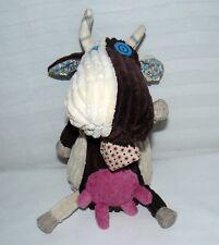 "Original Les Deglingo Milkos The Cow Rib Corduroy 10"" Bovine Plush Silly Animal"