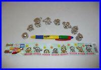 Kirby Metal Mascot Raro Set 8 Mini Figuras Gashapon BANDAI Japón Originales