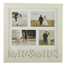 Wedding Mr & Mrs Collage Photo Frame - Holds 4 pictures NEW