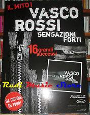CARTONATO PROMO VASCO ROSSI Sensazioni forti Il mito 48 X 67 cd dvd vhs lp live