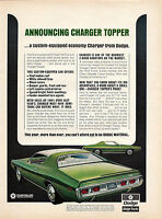 1971 DODGE CHARGER TOPPER Green Car Photo AD