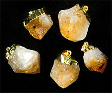 Gold Plated Citrine Point Pendant (PT43BT)