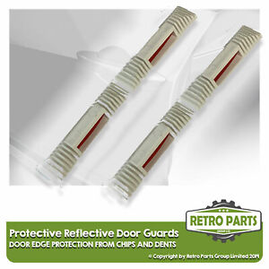 Retro White Protective Reflective Door Guard for Metrocab. Edge Chip Covers
