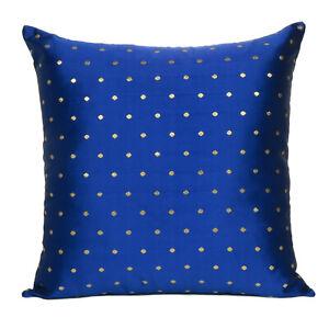 Cushion Cover Art Silk Indian Throw Pillow Cover Sofa Pillowcase Christmas Decor