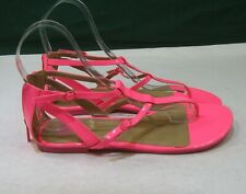 NEW Summer  neon pink ankle strap sexy Sandals  women Size  10