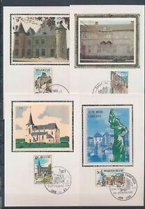XC79235 Belgium 1977 monuments landmarks maxicards used