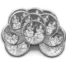 Ganesha Lakshmi / Laxmi Pure Silver (999) Five Gram Coin (Set of Ten Coin)