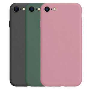Liquid Silicone Case For iPhone 7 8 Plus SE 2020 Shockproof Soft Phone Cover