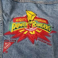 Vintage 90s Mighty Morphin Power Rangers Denim Jacket Nabisco Size 14/16 USA