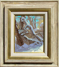 "Kim Mackey ""Winter Deadfall"" Hand Signed Original Oil Painting snowy trees OBO"
