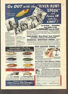 Vintage Original 1938 HEDDON Jointed RIVER-RUNT-SPOOK, POPPER-SPOOK Bass Lures