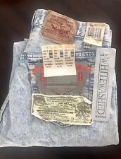 Levi's 501 Made in USA 33 X 30  With Tags Whitewash Bleached NOS
