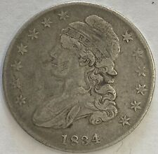 1834 Capped Bust Half Dollar Small Stars, Letters and Date VF