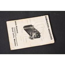 Leitz Leica Kamera mit Kassette Model D Anleitung / Bedienungsanleitung