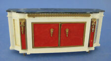 Dollhouse Miniature Ideal Plastic Low Console Cabinet with Faux Marble Top
