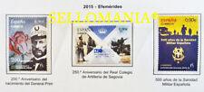 2015 EFEMERIDES GENERAL PRIM ARTILLERIA MILITAR EDIFIL 4947 / 49 ** MNH  TC20477