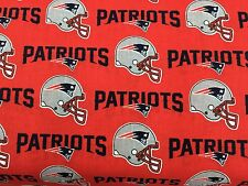"""NEW ENGLAND PATRIOTS 60"""" WIDE COTTON FABRIC BY THE 1/2 YARD Fabric Traditions R"""