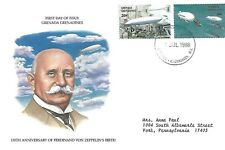 GRENADA GRENADINES 1988 FIRST DAY COVER, ZEPPELINS