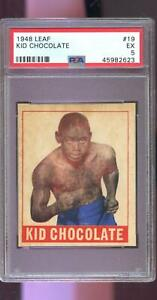 1948 Leaf #19 Kid Chocolate PSA 5 Graded Boxing Card