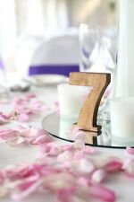 1-10 5'' Rustic Wooden Numbers, Free Standing Wedding Table Numbers