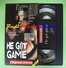 VHS film HE GOT GAME Denzel Washington Spike Lee ESPRESSO PRIMA FILA(F88)no dvd